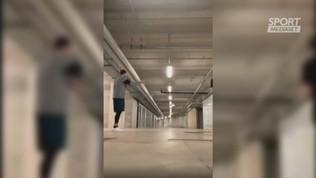 Inter: Gagliardini si allena in garage