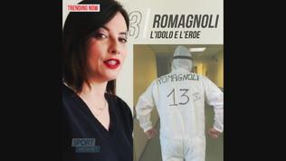 """Romagnoli omaggia un suo tifoso, operatore sanitario: """"Sei tu l'idolo!"""""""