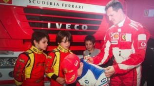 """Leclerc, brivido Schumi: """"Mai pensato di guidare per la Ferrari come lui"""""""