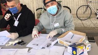 Un Ninja contro il coronavirus:pacchi spesa ai bisognosi