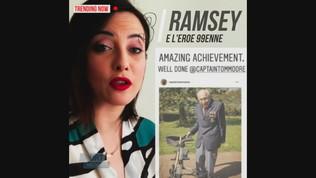 Ramsey si inchina al nuovo eroe: un 99enne che raccoglie 14 milioni