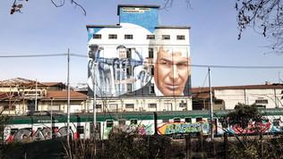 A Bergamo un maxi murale con Gasperini e Ilicic