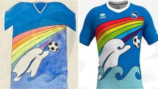 Pescara, ecco la nuova maglia: l'ha disegnata... un bambino
