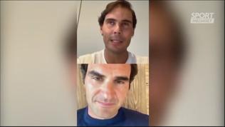 Federer-Nadal, show su Instagram