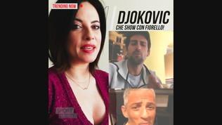 """Djokovic-Fiorello show: cantano """"Terra Promessa"""""""