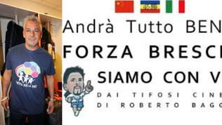 I tifosi cinesi di Baggio inviano mascherine griffate in Italia