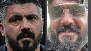 Gattuso, look da quarantena: barba e capelli lunghi