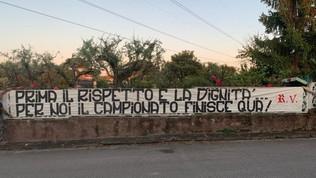 Roma, la curva Sud contro la ripresa del campionato
