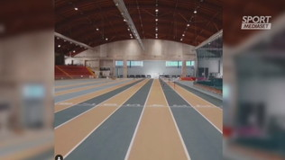 Tamberi si allena indoor ad Ancona