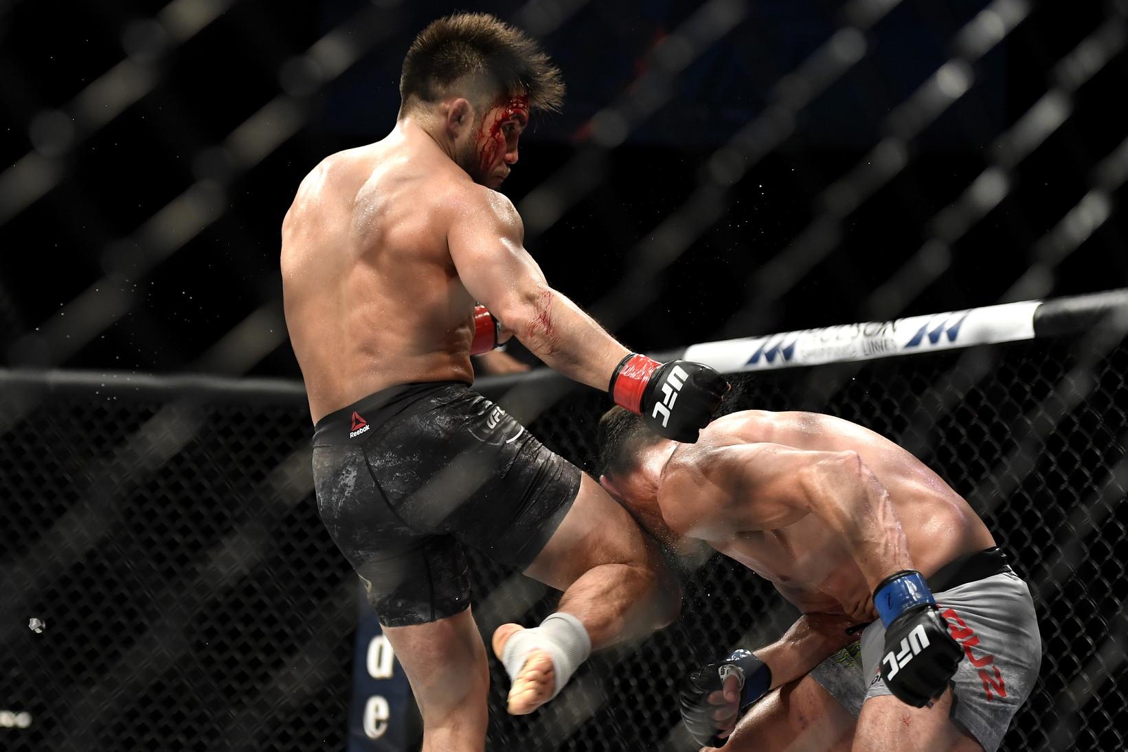 L'UFC riparte in Florida senza paura, anche durante la pandemia di Covid-19: niente pubblico, sanificate le gabbie, mascherine per staff tecnico e medici ma i combattimenti di arti marziali miste si fanno senza alcuna protezione. Un solo match annullato, quello di Jacaré, risultato positivo.