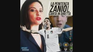 La penitenza di Zaniolo: canta in diretta!
