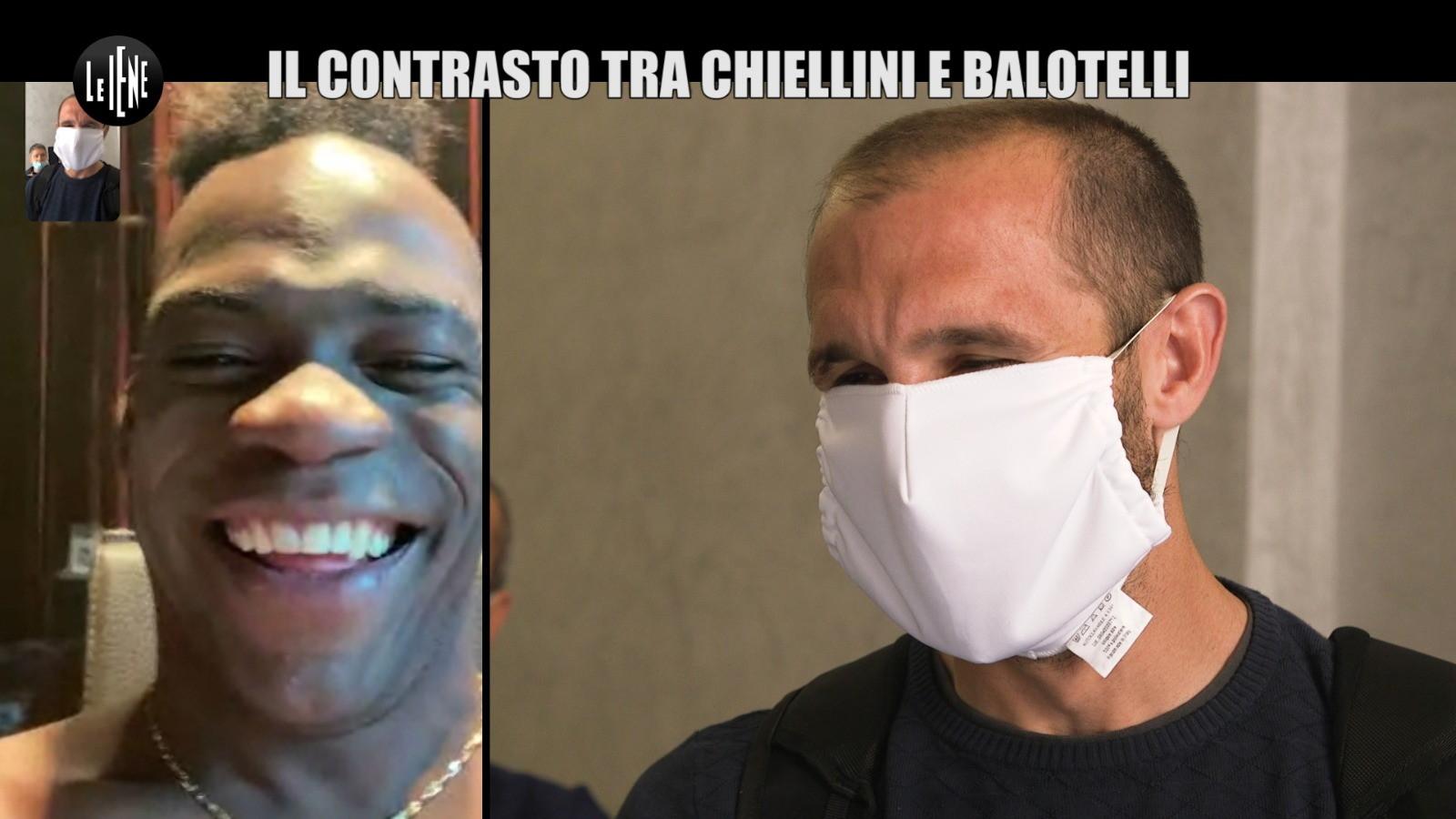 Dopo le polemiche incrociate (&quot;Balotelli persona negativa&quot;, &quot;Chiellini poteva dirmelo in faccia da uomo&quot;) scoppia la pace tra attaccante e difensore in una videochiamata a Le Iene.<br /><br />