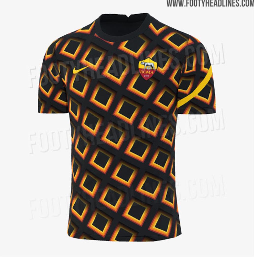 Roma, la maglia pre-partita 2020/21 si ispira al Pantheon | Foto ...
