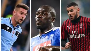 Il Psg fa shopping in Serie A: Koulibaly, Milinkovic-Savic e Theo