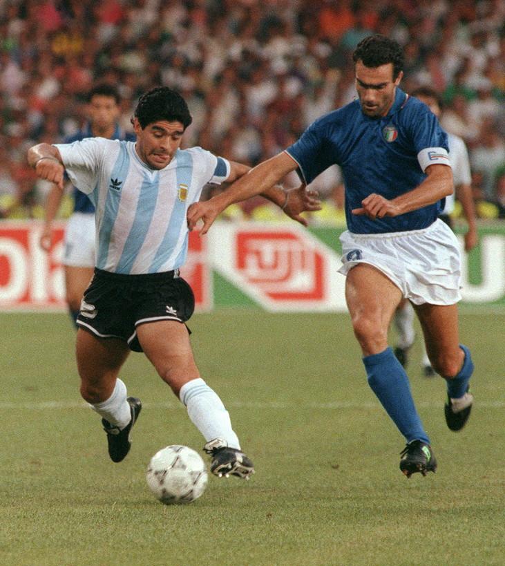 Bergomi contro Maradona ai Mondiali 1990