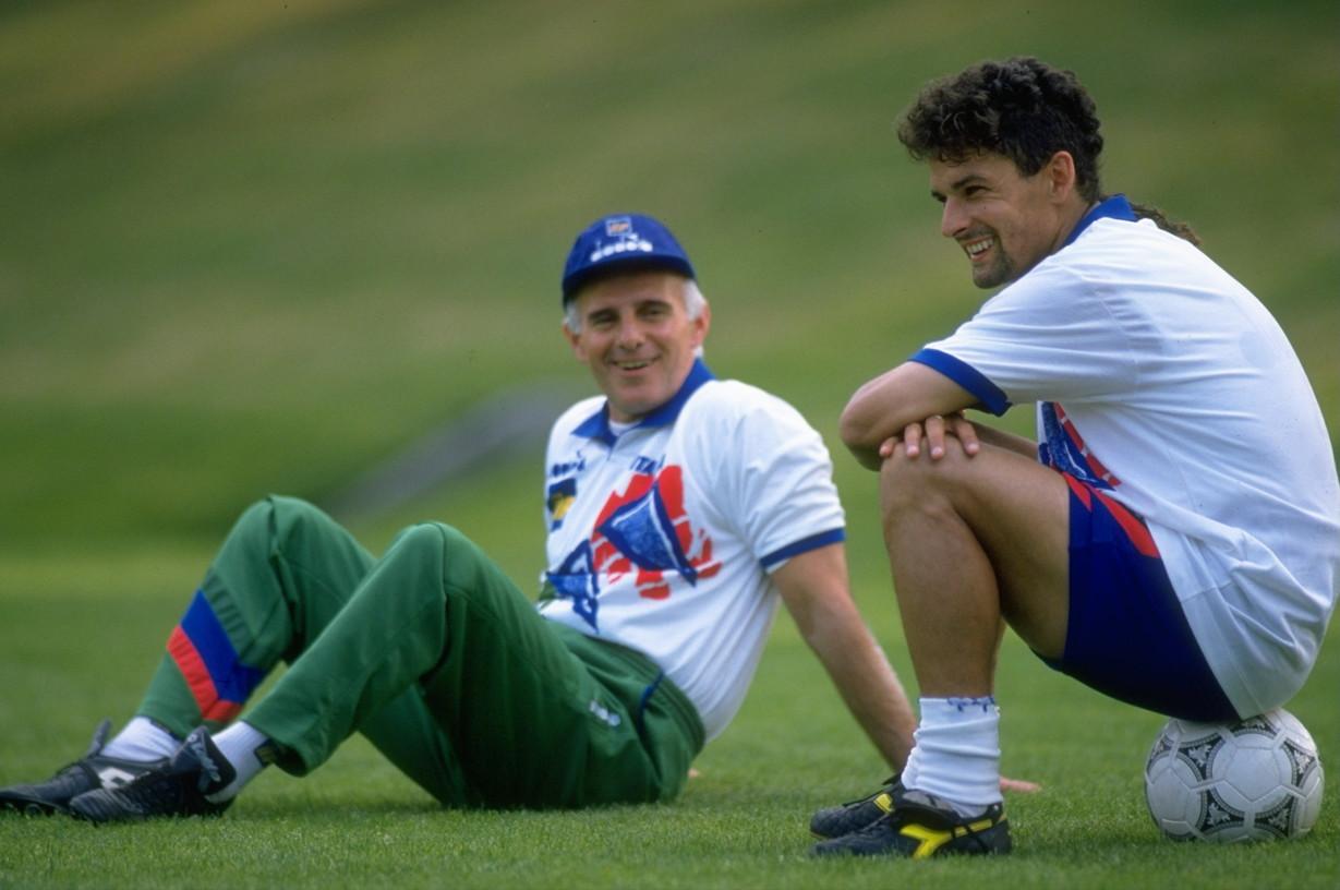 Baggio e Sacchi ai Mondiali 1994