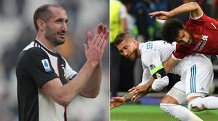 """Chiellini esalta Sergio Ramos: """"Il fallo su Salah? Un colpo da maestro"""""""