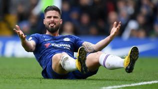 Il Chelsea prolunga con Giroud fino al 2021: addio Inter e Lazio