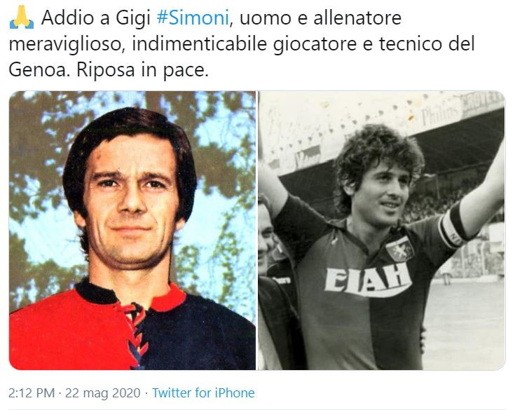 La Serie A piange l'extecnico e lo omaggia sui social