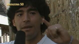 """Maradona: """"Non voglio vedere bandiere rossonere"""""""