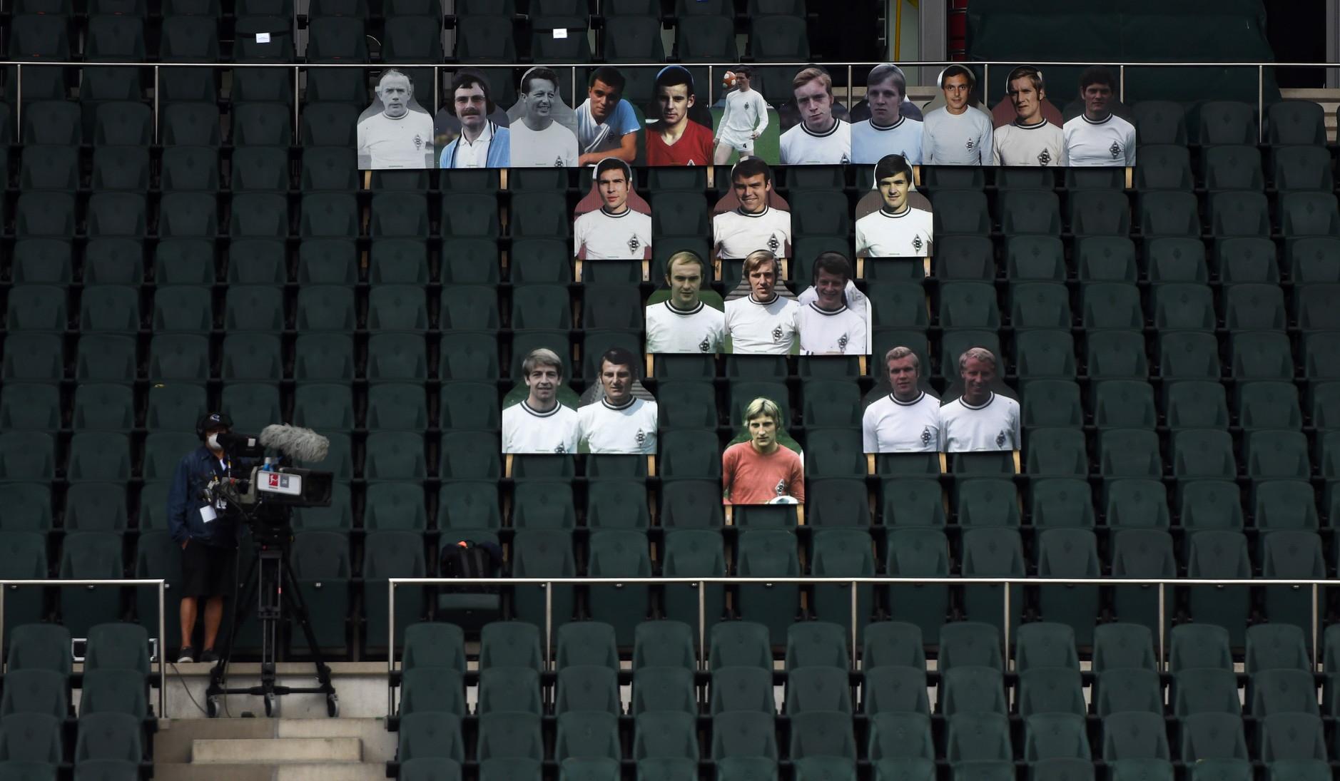 I tifosi di cartone (basta inviare una propria foto, il club la stampa e ci riempie lo stadio) non sono una novità per il Borussia Moenchenglad...