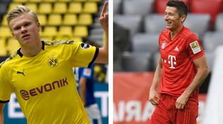 Haaland vs Lewandowski: in palio Bundesliga e Scarpa d'Oro