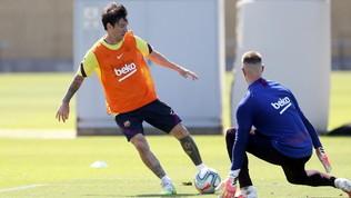 Barça, Messi è già pronto: gran gol in allenamento