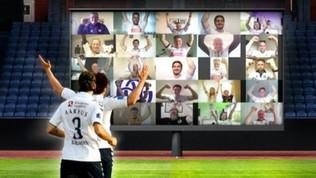 In tribuna a tifare in videoconferenza: in Danimarca lo stadio si riempie così!