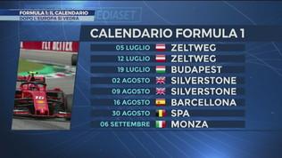Formula 1: ecco il calendario