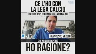 """Vecchi: """"Ce l'ho con la Lega Calcio"""""""