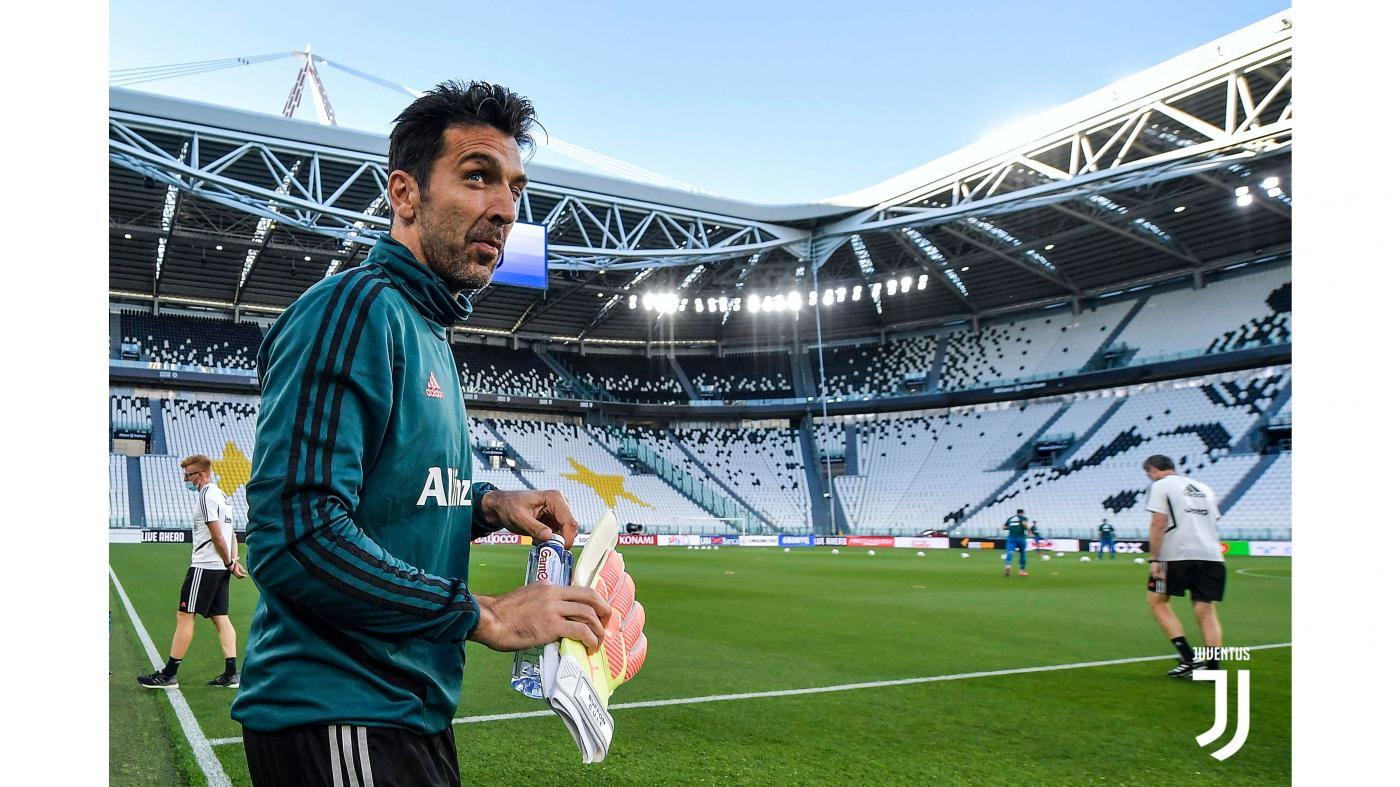 I bianconeri si sono allenati in vista della semifinale di ritorno, 89 giorni dopo la vittoria contro l'Inter a porte chiuse