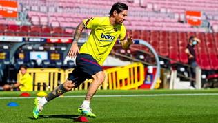 Messiè tornato ad allenarsi al Camp Nou:il Maiorca nel mirino