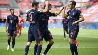 Bundesliga: il Bayern travolge il Leverkusen e vede il titolo, Dortmund sempre a -7