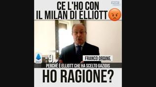 """Ordine: """"Ce l'ho con il Milan di Elliott"""""""