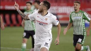 Ocampos, gol e assist: il Siviglia vince il derby della ripresa