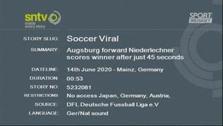 Mainz-Augsburg, gol da record post-Covid