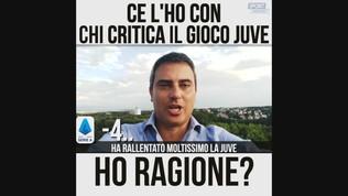"""Zampini: """"Ce l'ho con chi critica il gioco Juve"""""""