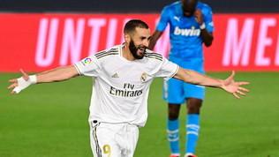Real, gol pazzesco di Benzema!Non ci crede neanche Zidane...