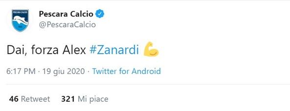 Il mondo dello sport, atleti e tifosi, è tutto stretto intorno ad Alex Zanardi. Il campione paralimpico è stato investito mentre era alla guida della sua handbike ed è in gravi condizioni all'ospedale di Siena. Tantissimi i messaggi social d'incoraggiamento, da sportivi e non, per il campione italiano.