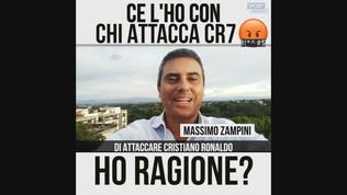 """Zampini: """"Ce l'ho con chi critica CR7"""""""