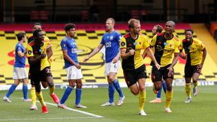 Premier League: Leicester frenato, Arsenal ribaltato e sotto shock per Leno