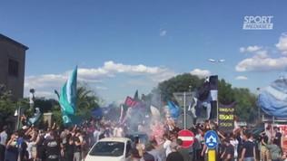Lazio, che accoglienza dei tifosi