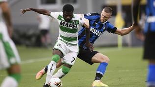 Inter-Sassuolo 3-3: notte pazza a San Siro