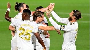 Il Real Madrid supera 2-0 il Maiorca e raggiunge il Barcellona