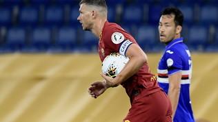 Roma-Sampdoria 2-1: la partita in foto
