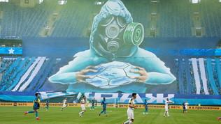 Dal virus al calcio: la coreografia dello Zenit fa emozionare