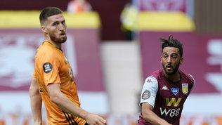 Il Wolverhamptonnon molla il sogno Champions: 1-0 all'Aston Villa
