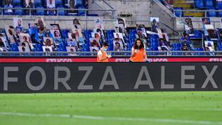 """Zanardi, l'omaggio dell'Olimpico: """"Forza Alex"""" sui cartelloni"""