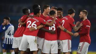 Lo United passa a Brighton, Solskjaer aggancia il quinto posto