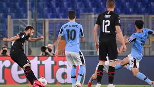 La Lazio crolla a -7 dalla Juve: il Milan cala il tris all'Olimpico